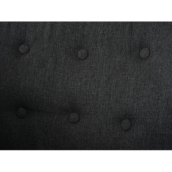 Křeslo Vaasa Relaxing, antracitový textilní potah
