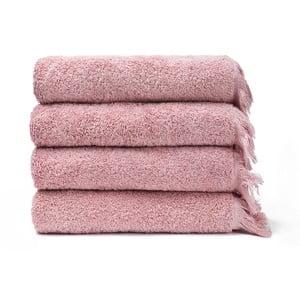 Sada 4 růžových bavlněných ručníků Casa Di Bassi Bath, 50x90cm