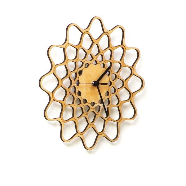 Dřevěné hodiny Embroidery, 29 cm