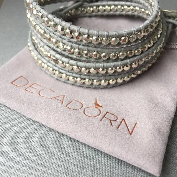 Náhrdelník Decadorn, stříbrná/šedá