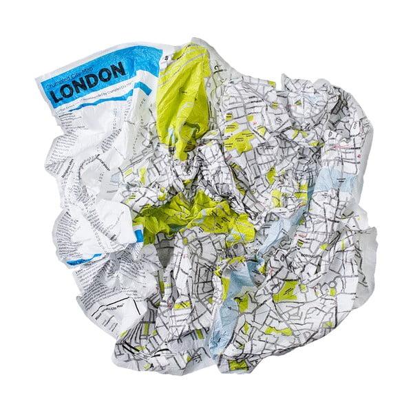 Zmačkaná cestovní mapa Palomar Londýn