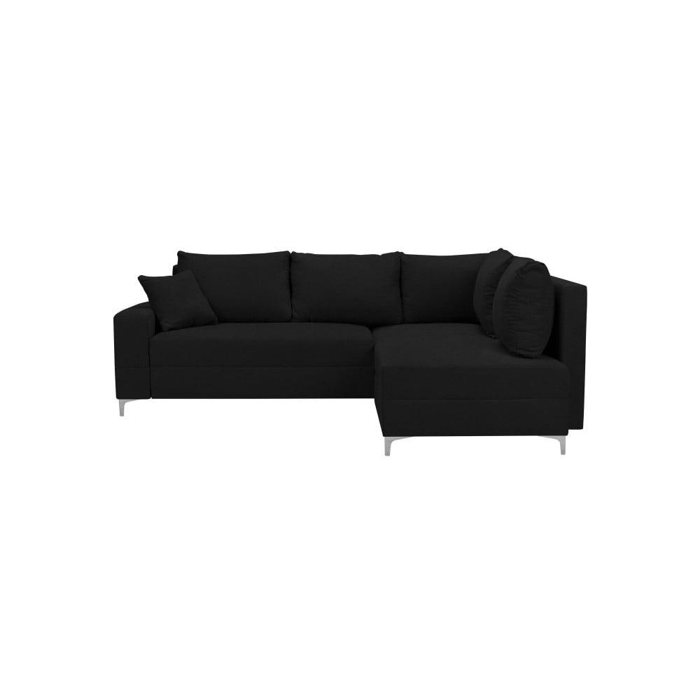 Černá rozkládací rohová pohovka Windsor & Co Sofas Zeta, pravý roh