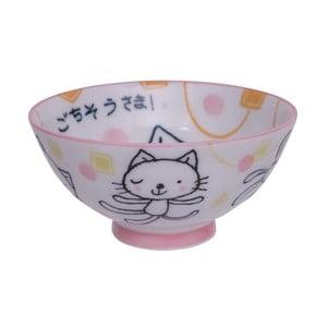 Růžová miska Tokyo Design Studio Gochisosama , ø10,5cm