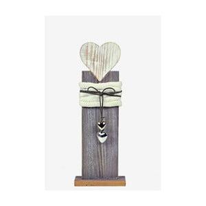 Dřevěná dekorace Ego Dekor Heart, výška36cm