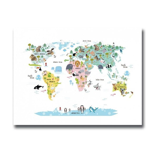 Obraz Onno Map, 30x40 cm