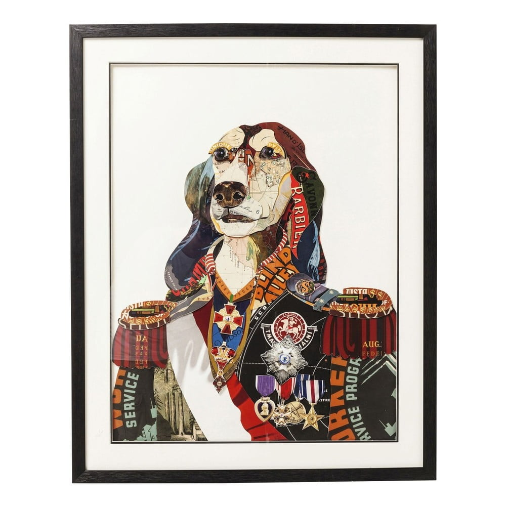 Obraz Kare Design Art General Dog 72 x 90 cm