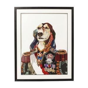 Tablou Kare Design Art General Dog, 72 x 90 cm