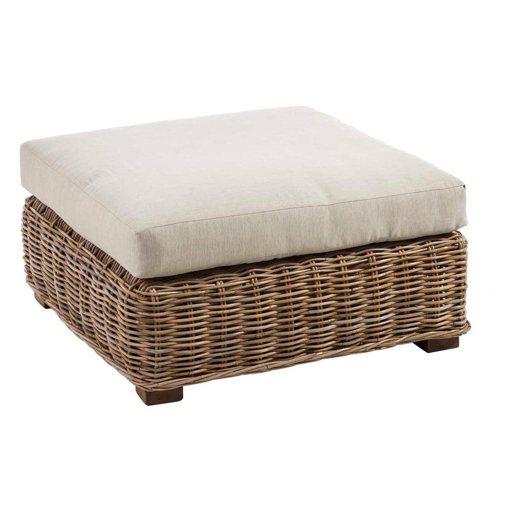 Ratanová stolička s polštářem Tropicho