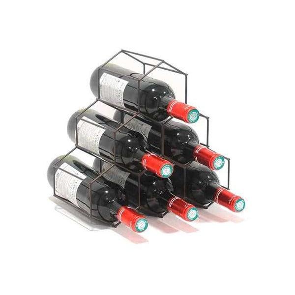 Stojan na víno v černé barvě Compactor