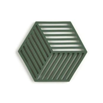 Suport din silicon pentru vase fierbinți Zone Hexagon, verde închis imagine