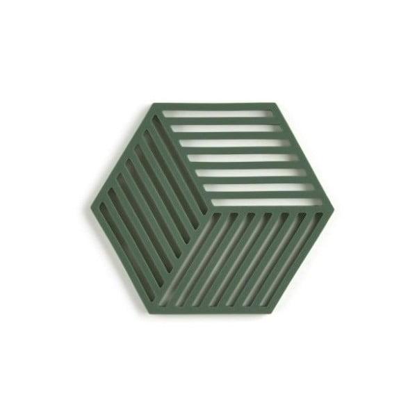 Hexagon sötétzöld szilikonos edényalátét - Zone