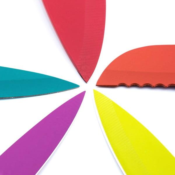 Set 5 cuțite și foarfecă din oțel inoxidabil InnovaGoods Ceramic