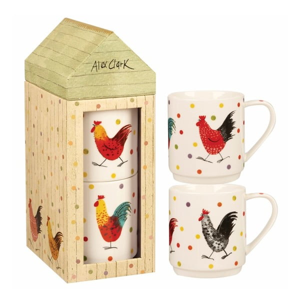 Set 2 căni din porțelan Churchill China Alex Clark, 320 ml