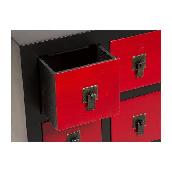 Komoda se 7 červenými zásuvkami Santiago Pons Oriental