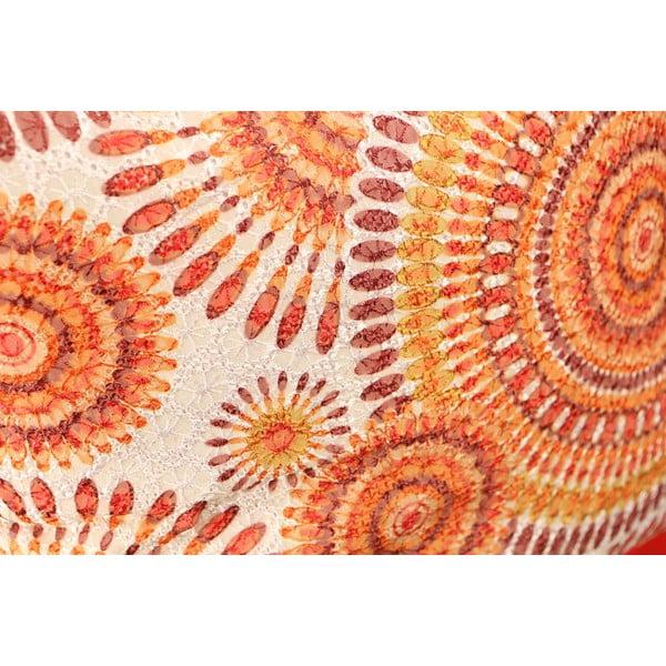 Polštář Orange Rosette, 45x45 cm