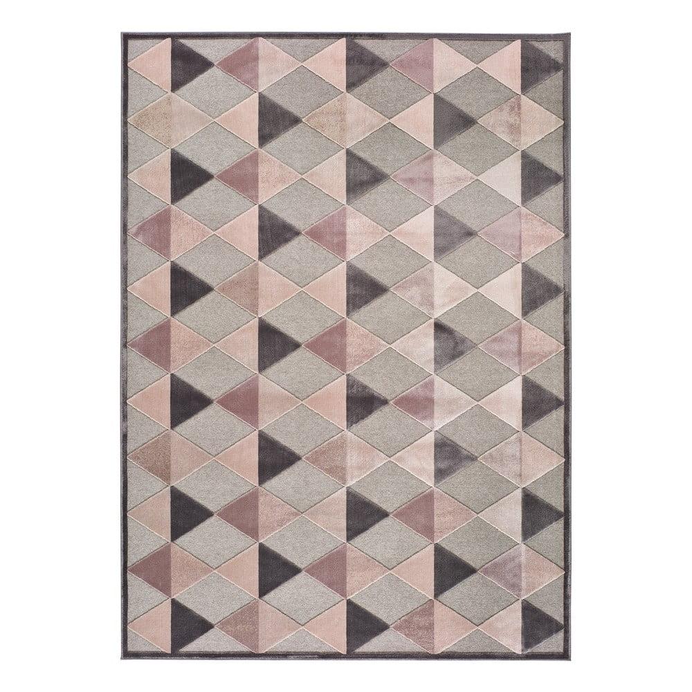Šedo-růžový koberec Universal Farashe Triangle, 120 x 170 cm
