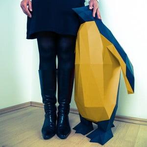 Papírová socha Tučňák XL, černo-zlatý
