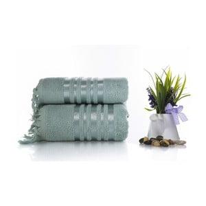 Set mentolově zelené bavlněné osušky a ručníku Ladik Eleanor
