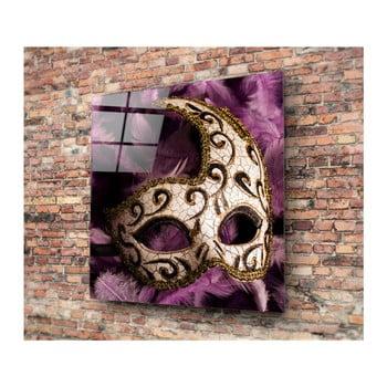 Tablou din sticlă 3D Art Mask, 40 x 40 cm