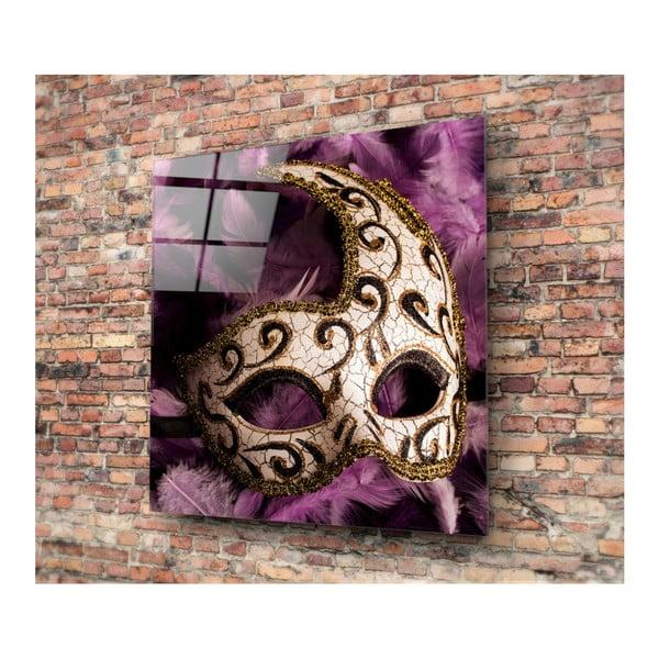Mask üvegkép, 40x40cm - 3D Art