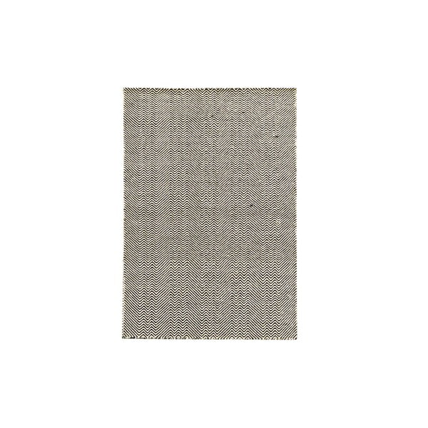 Ručně tkaný koberec Black Zigzag Kilim, 110x156 cm
