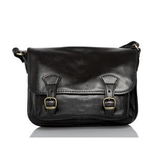 Černá kožená taška přes rameno Glorious Black Lisbona