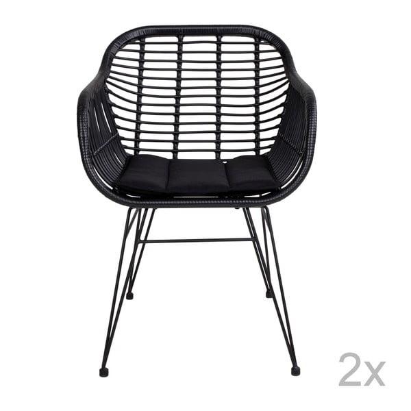 Trieste kültéri műrattan fotel párnával, 2 db - House Nordic