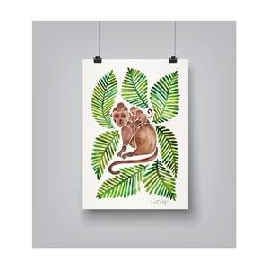 Plakát Americanflat Monkeys, 30x42cm