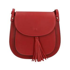 Tmavě červená kožená kabelka Roberto Buono Kara