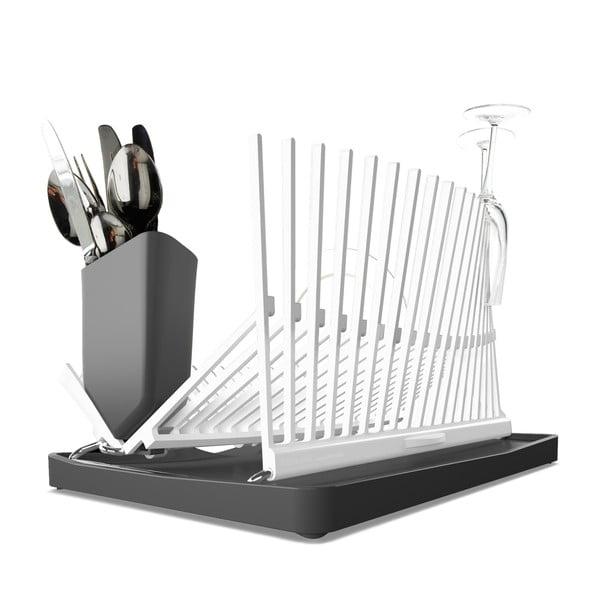 Bílo-šedý odkapávač Black + Blum Dish Rack