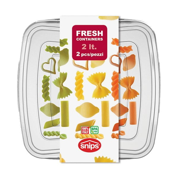 Sada 2 krabiček na potraviny Snips Classic, 2l