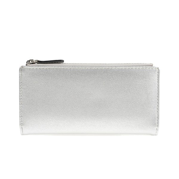 Koženková peněženka ve stříbrné barvě Carla Ferreri