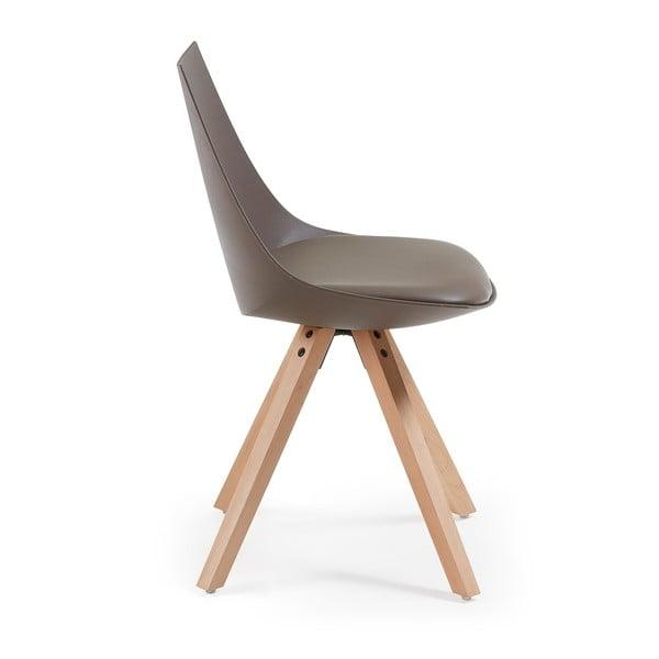Sada 4 hnědých židlí La Forma Armony