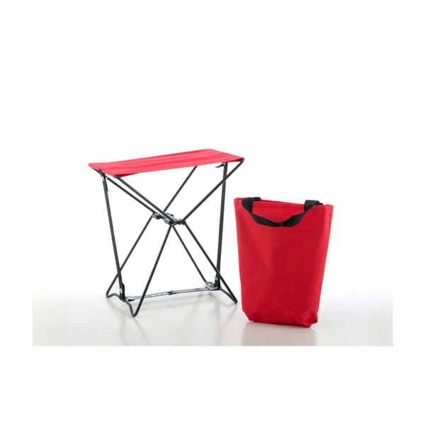 Czerwony stołek składany InnovaGoods Handy