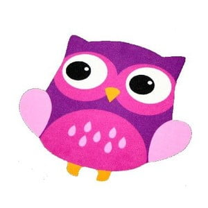 Dětský fialový koberec Zala Living Owl, 66x66cm