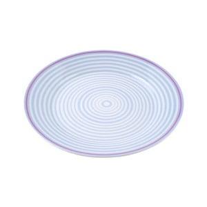 Porcelánový talíř Lines, modrý 4 ks