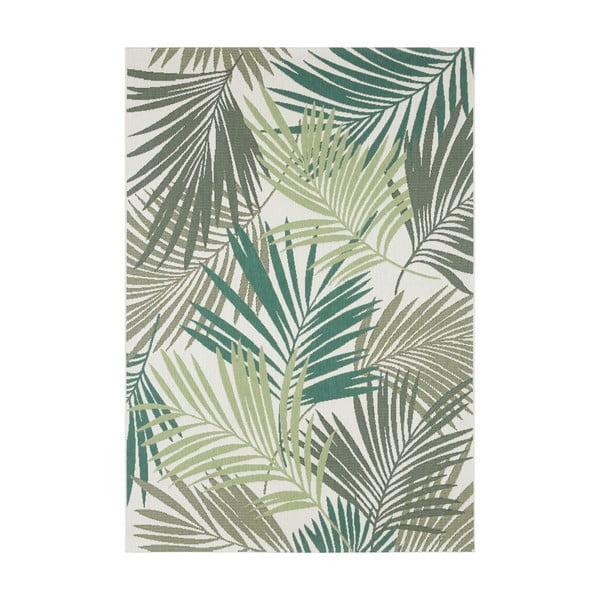 Zeleno-šedý venkovní koberec Bougari Vai, 200 x 290 cm