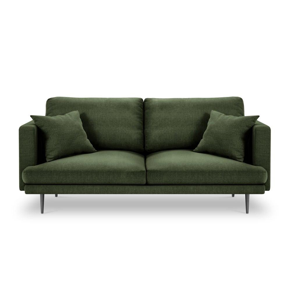 Lahvově zelená třímístná pohovka Milo Casa Piero