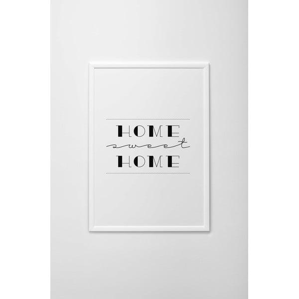 Autorský plakát Home Sweet Home, vel. A3