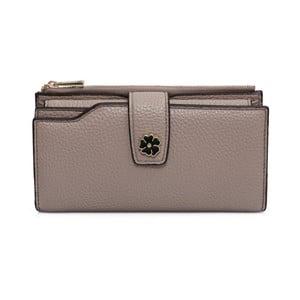 Hnědobéžová peněženka z koženky Laura Ashley Redan