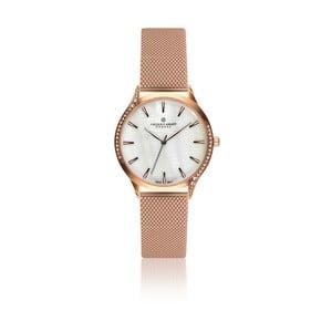 Dámské hodinky s páskem v růžovozlaté barvě z nerezové oceli Frederic Graff Rustikala