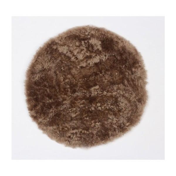 Podsedák z ovčí kožešiny Latte, 35 cm