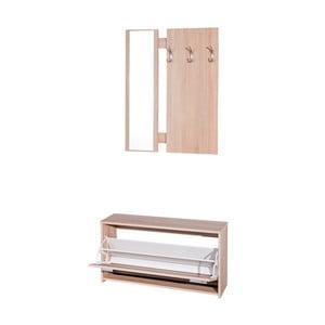 Set de mobilă pentru coridor 13Casa Hola, cu aspect de lemn