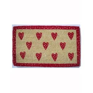 Rohožka Hearts, 73x43 cm