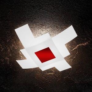 Stropní svítidlo s červeným detailem Barloom Ro