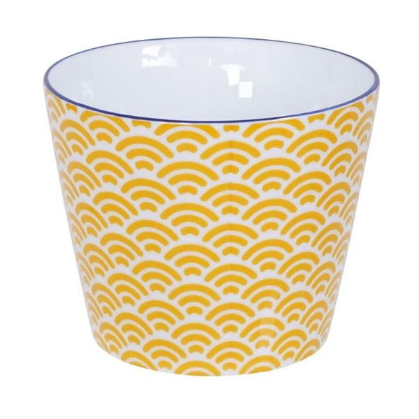 Žluto-bílý hrnek Tokyo Design Studio Star/Wave, 180ml