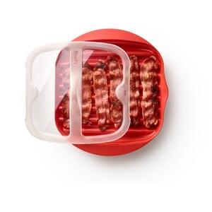 Červená silikonová nádoba na přípravu slaniny Lékué Bacon