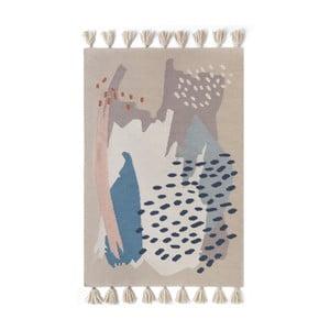Ručně tkaný hnědý vlněný koberec Art For Kids Chroma, 160x230cm