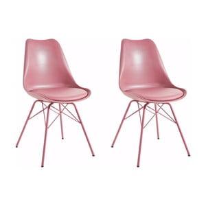 Sada 2 růžových jídelních židlí Støraa Lucinda
