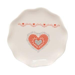 Keramický dortový talíř Kasanova Heart, ø21cm